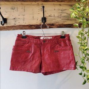 Leather vintage hot pants